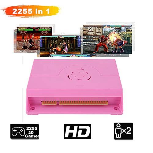 2255 in 1 Arcade Game Console Doppi Giocatori Rocker Fighting Arcade Game Machine Console Giochi Retrò con Core A74 per TV, Monitor, Proiettore, Supporta Display HD Fino 1280 * 720P