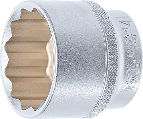 """BGS 10650-1 - Llave de vaso de doce cantos (12,5 mm, 1/2"""", SW 41 mm, acero CV)"""