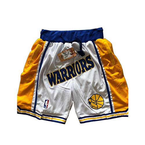 ULIIM Basketball Heat Shorts Herren Hohe-Qualität Mesh Retro Miami Heat Swingman Sports Shorts M-XXL