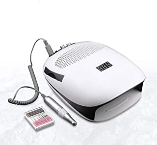 140W Nail Dryer, With Electric nail drill Kit With Nail Dust Suction Collector Vacuum Cleaner-Salon Level/Family