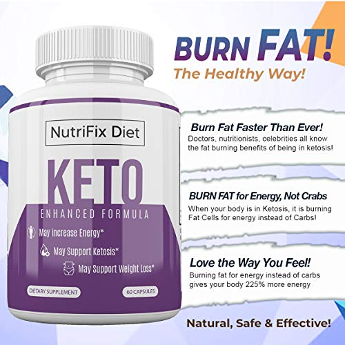 Nutrifix Diet - Keto Enhanced Formula - May Increase Energy - Support Ketosis and Weight Loss - 30 Day Supply 7