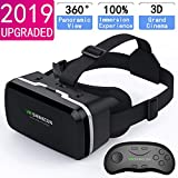 VR Headset with Remote Controller,3D Glasses Virtual Reality Headset for VR Games & 3D Movies, VR Headset for iPhone & Android Phone,VR Glasses Suitable for Kids and Adults