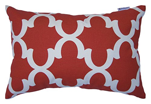 JinStyles Pillow Cover, Accent, Decorative, Throw, Lumbar, Print, Red, 12 x 18