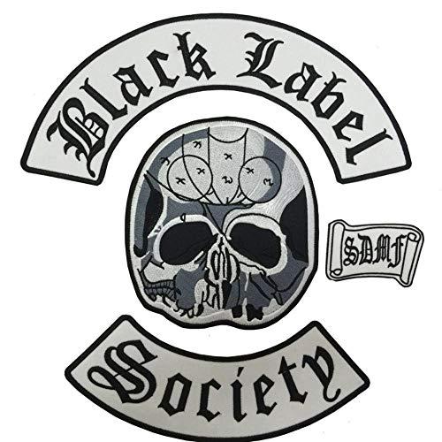 """EMOHKCAB Original de Gran tamaño Aproximadamente 13""""* 12"""" Black Label Society Heavy Metal Band Conjunto de Parche Trasero para Hombre"""