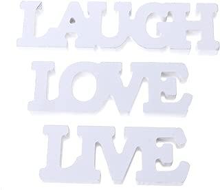 Rockrok 3Pcs/Set Live Love Laugh Letters Wooden Sign Wedding Ornaments Home Decor