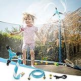 YoYoFit Trampolin Sprinkler,Kinderspaß Sommer-Wasserparkspiel im Freien Sprinkler, Rotierender...