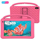 Kids Tablet 7 Inch IPS HD Display Quad Core Android 10.0 Pie Educational Tablet PC for Kids GMS Dual Cameras 2GB RAM 32GB ROM WiFi with Handheld Kids-Proof Silicon Case for Kids (Pink)