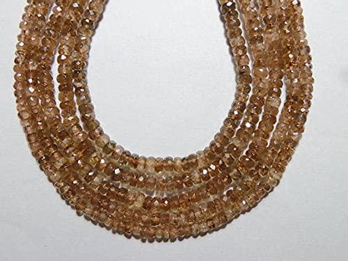 World Wide Gems Cuentas de piedras preciosas 5 hilos Lote Super Natural Andalucita Feceted 3-4 MM Perlas Forma de 14 pulgadas Código de hebra-HIGH-68268