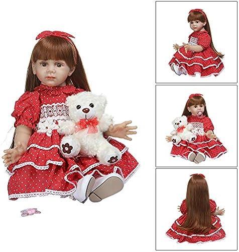 Realistische Reborn Puppe aus Weißem Silikon und Vinyl, für Neugeborene, mädchen, lebensechtes Handarbeitsspielzeug für Kinder, Geburtstag, Weißachten, Geschenk