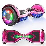 """MICROGO Hoverboards, Self Balance Scooter, 6,5 """"Elektroroller mit Bluetooth-Lautsprechern LED-Leuchten, Geschenk für Kinder und Jugendliche (Chromrose)"""