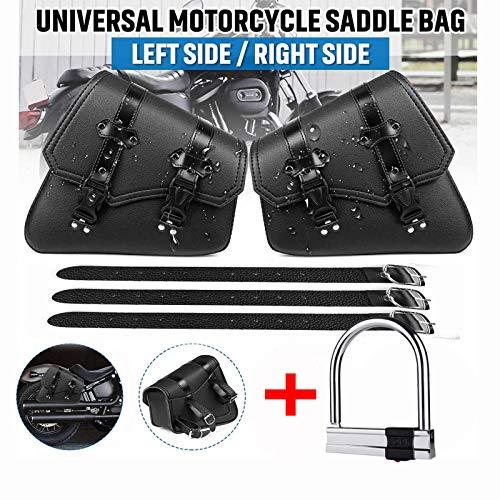 Vintage Satteltaschen für Motorrad Universal PU wasserdichte Satteltaschen mit großer Kapazität