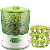 Qazwsxedc para la Cocina Inteligente brotes de Haba Fabricante del hogar Actualización de Gran Capacidad Semillas termostato automático Verde Que Crece Sprout Equipo Existen Dos Capas ZYS