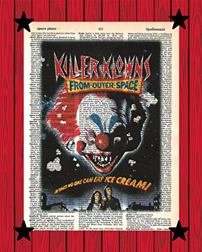 Killer Klowns From Outer Space Movie Poster Scary Clown Wall Decor Killer Klowns Dictionary Art Print 8x10