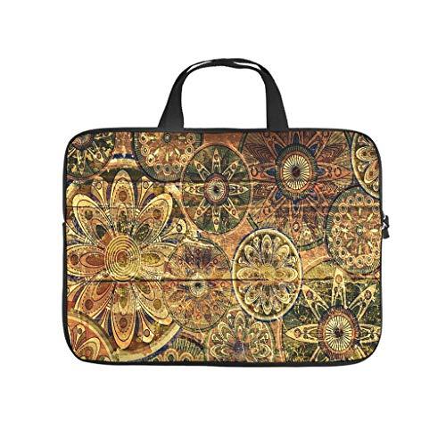 Abstract Old Egypt Flower Laptop Bag Dustproof Laptop Protective Case Design Notebook Bag for University Work Business
