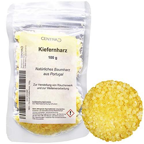 Centra24 Kiefernharz 100g, Balsamharz aus Portugal, für Bienenwachstücher, ätherisches Öl, Salben, in Pastillenform, Baumharz, Kolophonium, Gum Rosin
