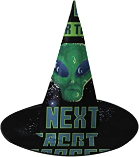 Retro Pixel Alien Waiting For Next Target Witch Hat Halloween Unisex Costume For Holiday Halloween Christmas Carnivals Party