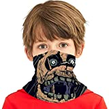Sun Protection Face Masks, Kids Teens Dust Proof Breathable Neck Gaiter, FNAF Springtrap Fan Painting Art Head Wrap Neck Buff for Outdoors Fishing