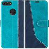 Mulbess Funda para Huawei P Smart, Funda Honor 9 Lite, Funda con Tapa Huawei P Smart, Funda Huawei P Smart Libro, Funda Cartera para Huawei P Smart 2017 (5.65) Carcasa, Azul Mint
