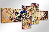 Quadro Moderno Kandinsky Composizione VII - cm 160x70 Stampa su Tela Canvas Arredamento Arte Arredo Astratto Design