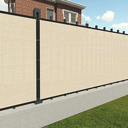 Patio Paradise 4' x 50' Tan Beige Fence Privacy Screen