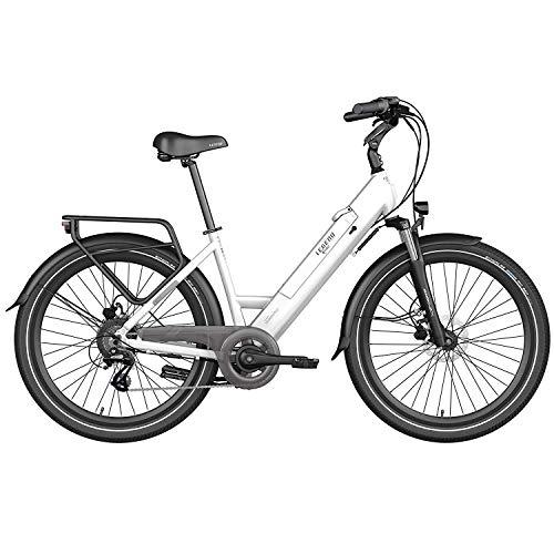 Legend Milano Bicicleta Eléctrica Urbana Smart eBike Ruedas de 26 Pulgadas, Frenos...
