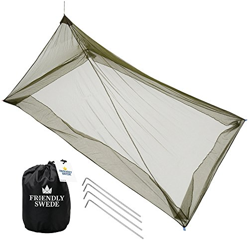 The Friendly Swede Mosquitera de Cama Individual de Camping