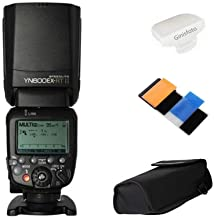 Yongnuo Yn600Ex-Rt Ii Maestro Ttl Speedlite 1/8000S Hss Gn60 Apoyo Auto/Manual Zoom para Canon 600Ex-Rt Yn6000 Ex Rt II con Difusor Ginisfoto