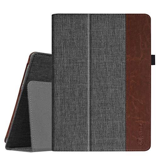 Fintie Hülle Case für Huawei MediaPad M3 Lite 10 - Ultra Schlank Folio Stoff Schutzhülle Etui Tasche Case Cover für Huawei MediaPad M3 Lite 10 Tablet-PC, Denim dunkelgrau
