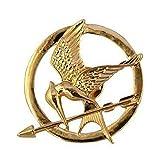 Broche de mockingjay de Katniss, de Los juegos del hambre, chapado en oro de 18 K