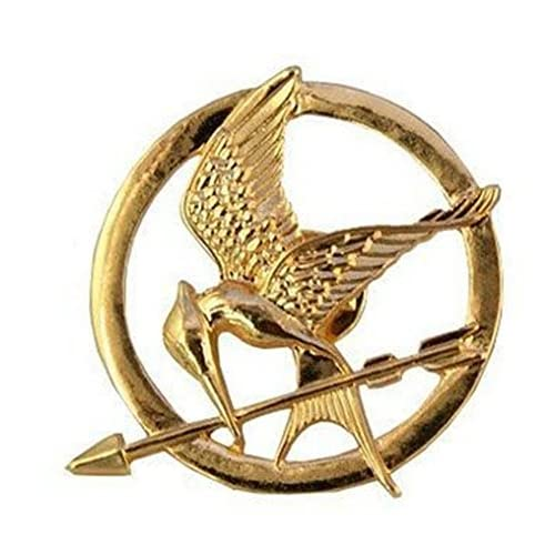 Oakhum Designs Spilla placcata in Oro 18 ct, Katniss Mockingjay di Hunger Games