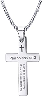 mens cross necklaces with bible verse
