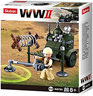 SlubanKids Army Vehicle Building Blocks WWII Series Building Toy Army Fighter Jet   Indoor Games for Kids