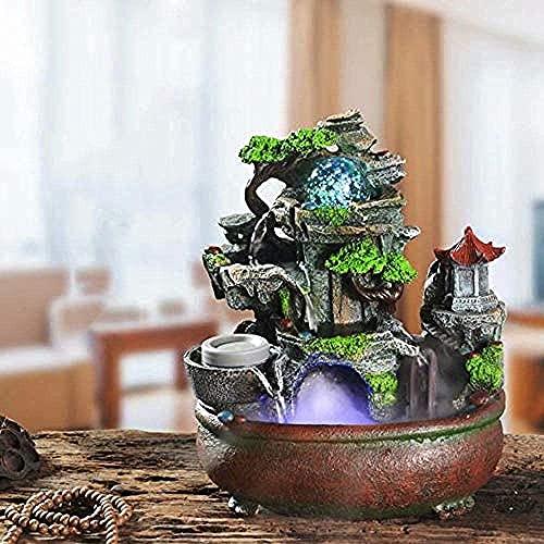 Dpliu Rockery Water Bonsai Fontaine - Humidificateur de Voiture Feng Shui Decorations Accueil Décorations d