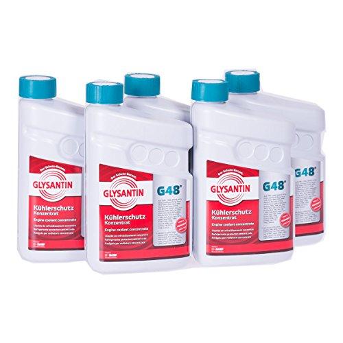 5x 1,5 L Liter Glysantin® G48® Kühlerfrostschutz Frostschutzmittel Frostschutz Kühlerschutz Kühlmittel Konzentrat Kühler Frost Schutz Mittel blaugrün