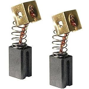 Kampfhausen – Escobillas de carbón para amoladora angular Black & Decker CD115, CD110, AST6, CD105, KG915 y T6