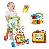 HKD Correpasillo para bebés con Musica Antivuelco Andador bebé con Actividades manuales