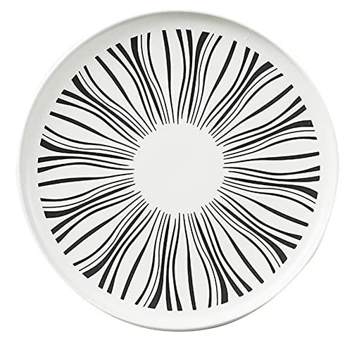 ELLENS Plato de Cena de cerámica bajo vidriado Moderno nórdico, vajilla Redonda de 8.2 Pulgadas / 10.3 Pulgadas, Platos de Cena Occidentales