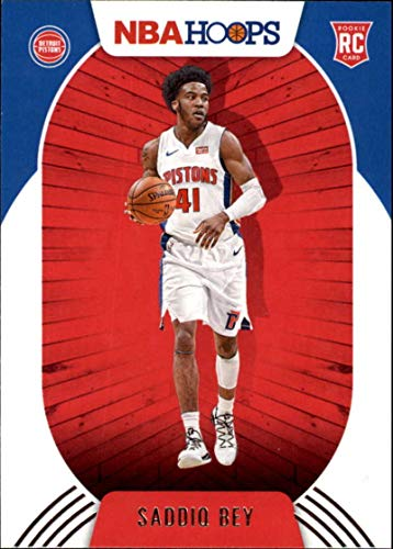 2020-21 NBA Hoops #237 Saddiq Bey RC Rookie Detroit Pistons Official Panini Basketball Trading Card (Stock Photo, NM-MT Condition)