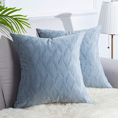 light blue couch pillows - 4