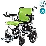 GJHW Leichtgewichtrollstuhl, Doppelfunktion Faltbare Elektro-Rollstuhl (Li-Ion-Akku) mit elektrischer Energie oder manuellem Rollstuhl für Behinderte Ältere,Weihnachten