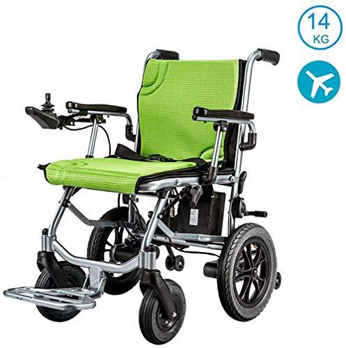 AMITD Leichtgewichtrollstuhl, Doppelfunktion Faltbare Elektro-Rollstuhl (Li-Ion-Akku) mit elektrischer Energie oder manuellem Rollstuhl für Behinderte Ältere,Weihnachten