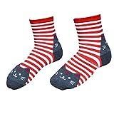 Cuekondy Womens Casual Socks,Cute Animal Socks Cats Cartoon Sweet Animal Striped Cotton Crew Floor Socks