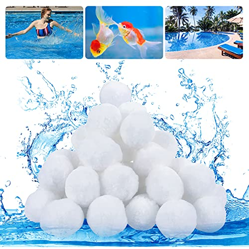 MOKHT Filterbälle Pool - Filterballs für Sandfilteranlagen, Filterbälle 1000g Ersetzen 36 kg Filtersand Ersatz für Quarzsand, Filterglas, Filter Balls für Schwimmbad, Filterpumpe, Aquarium