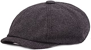 Easycosy Men's Newsboy Gatsby Hat Vintage Beret Flat Ivy Cabbie Driving Hunting Cap for Boyfriend Gift