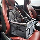Pet Auto Wiege Kissen Haustierautositz-Nettogarn-Tasche, umfassende wasserdichte Hundesicherheits-Reise-Hängematte und Maschen-Reißverschluss-Aufbewahrungsbox (Color : Grey)
