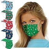 50 Stück Einmal-Mundschutz, Staubs-chutz Atmungsaktive Mundbedeckung, Erwachsene, Weihnachten Bandana Face-Mouth Cover Winter