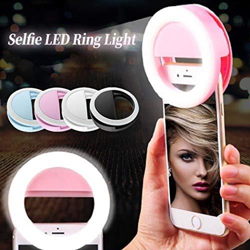 Junio1 New Beauty Selfie LED Light Phone Fotografía Luz de Relleno Flashes con Zapata