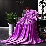 Chickwin Flanelldecke Kuscheldecke, Einfarbig Einfacher Stil Weiche Wohndecke Warm Flauschige Decke TV-Decke Mikrofaserdecke Sofadecke oder Bettüberwurf Tagesdecke (Dunkelviolett,180x200cm)