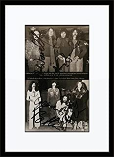 Framed Black Sabbath Authentic Band Autograph with Ceritficate of Authenticity