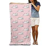 zhengshaolongG Toalla de baño Absorbent Bath Towel Pool Towel Cartoon Dogs On Pink Personalized Highly Shower Towel Soft Beach Towel 130X80CM